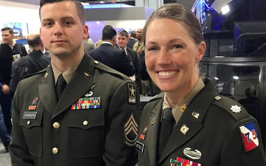 """A new uniform modeled after the World War II-era """"pinks and greens"""" were presented last week at the Association of the United States Army's annual exposition in Washington, D.C."""