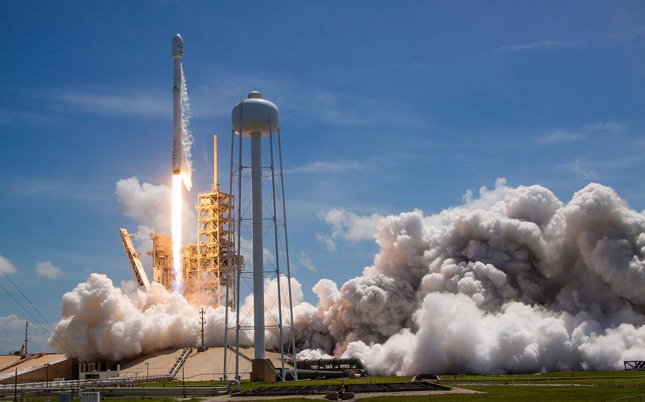The U.S. Air Force's 45th Space Wing supported SpaceX's successful launch of the BulgariaSat-1 satellite aboard a Falcon 9 rocket from Launch Complex 39A at NASA's Kennedy Space Center June 23, 2017.