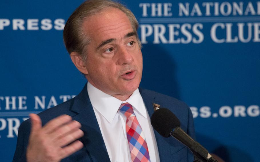 Veterans Affairs Secretary David Shulkin speaks at a conference held on Nov. 6, 2017 at the National Press Club in Washington, D.C.