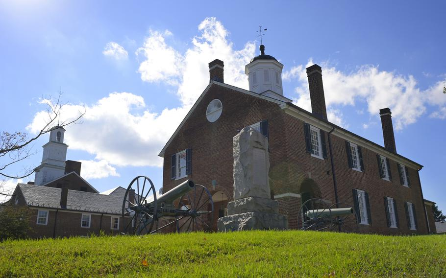 Last year, the Fairfax County Board of Supervisors voted to remove the Civil War memorial, flanked by two howitzer cannons, that had sat outside the old courthouse grounds. The guns have been turned over to the National Park Service.