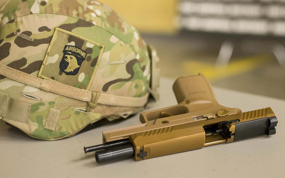 The M17, or Modular Handgun System, is the Army's newest handgun currently being fielded to soldiers.
