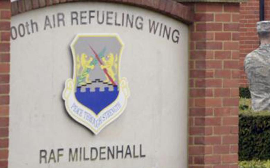 RAF Mildenhall was the site of a security incident on Monday.