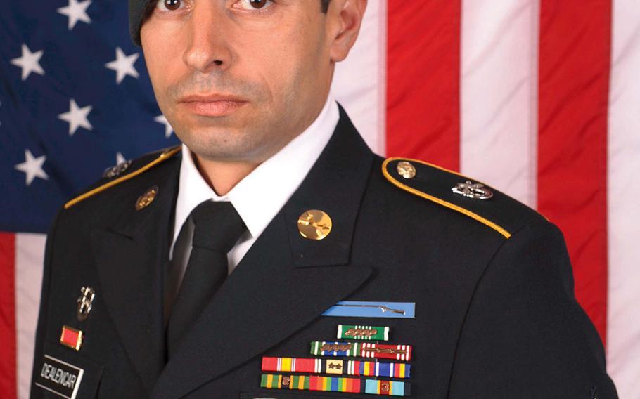 Staff Sgt. Mark De Alencar, 37, was killed Saturday, April 8, 2017, in combat in Afghanistan.