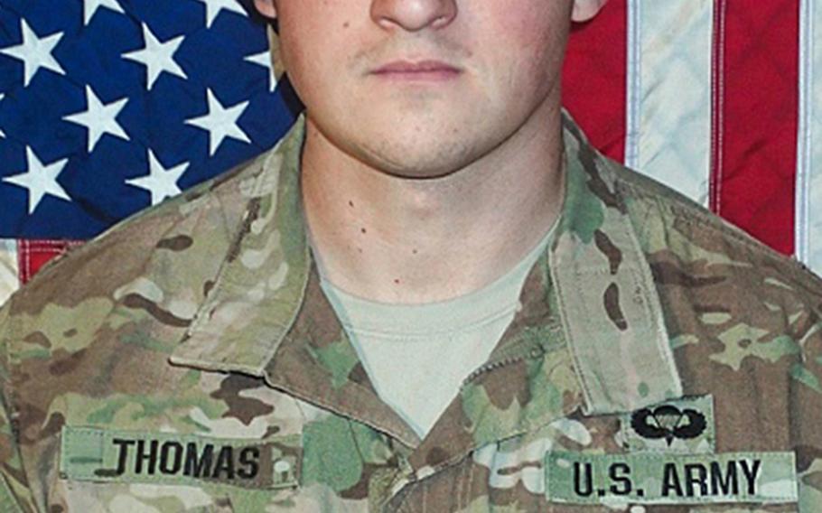 Sgt. Cameron H. Thomas, 23, killed April 27, 2017 in Nangahar province, Afghanistan.