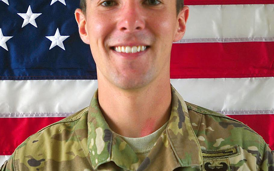 Cpl. Dillon C. Baldridge, 22, pictured here as a specialist, was killed in a green-on-blue attack in Afghanistan on Saturday, June 10, 2017.