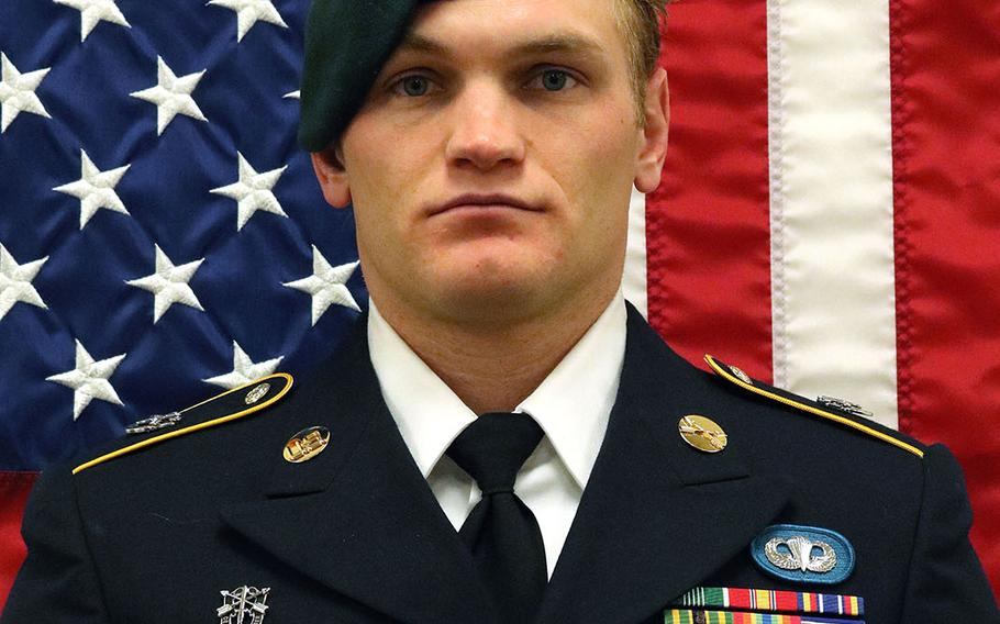 Staff Sgt. Aaron R. Butler,27, died from injuries suffered from a bomb blast on Aug. 16, 2017 in Afghanistan's Nangahar province.
