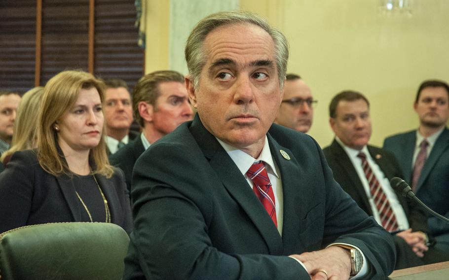 VA Secretary David Shulkin testifies at a Senate Committee on Veterans Affairs hearing on Wednesday, Jan. 17, 2018, on Capitol Hill in Washington, D.C.