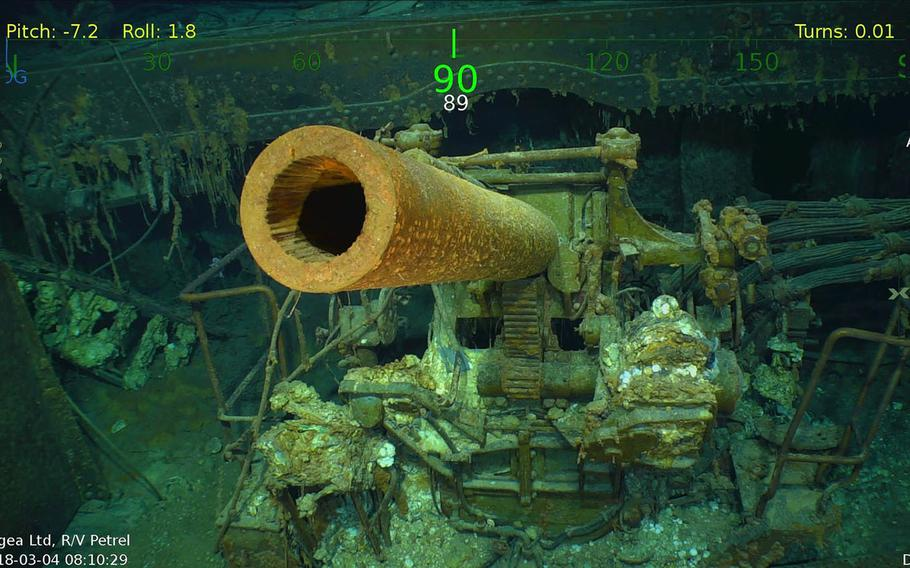 Wreckage from the USS Lexington has been found in the Coral Sea 76 Years after the aircraft carrier was sunk during World War II.