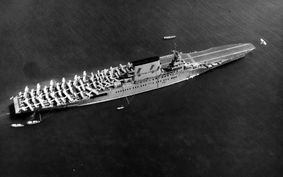 The USS Lexington was critically damaged by Japanese forces during the Battle of the Coral Sea on May 8, 1942.