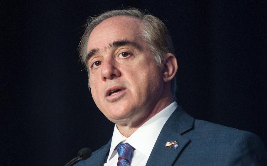 Veterans Affairs Secretary David Shulkin speaks on Feb. 27, 2018, during a session of the American Legion's  Washington Conference.