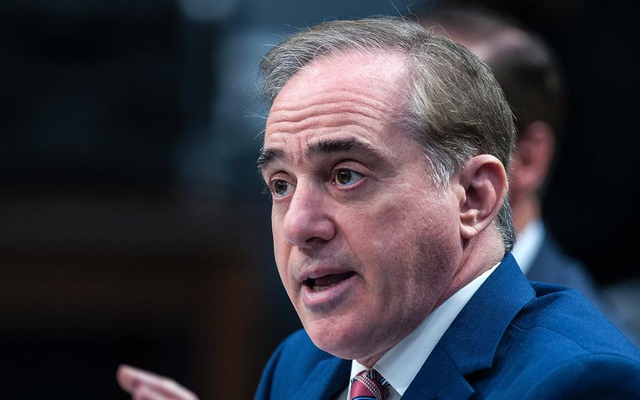 """VA Secretary David Shulkin testifies before the House Appropriations Subcommittee on Military Construction, Veterans Affairs and Related Agencies during a hearing on Capitol Hill in Washington, D.C., on Thursday, March 15, 2018. Concerning the Veterans Choice program, Shulkin said, """"The time to act is now, and we need your help."""""""