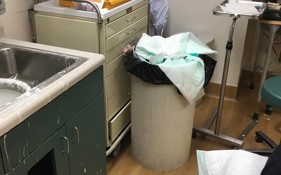 A series of photos showing the condition of an exam room at the Salt Lake City VA clinic rocketed across social media Friday, prompting an apology from the hospital system's chief of staff and triggering an investigation.