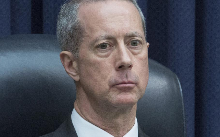 House Armed Services Committee Chairman Mac Thornberry, R-Texas, listens during a hearing in March, 2018.