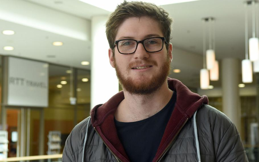 Mark Gregory, 25, a citizen of the United Kingdom, worked at Chili's on Ramstein Air Base, Germany, for nearly four years until leaving this year. He was disappointed with how the 86th Force Support Squadron handled the transfer of third-country nationals into the host nation employment program.