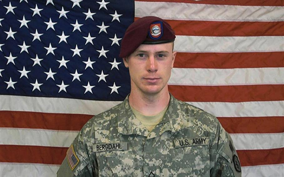 Private First Class Bowe Bergdahl, in a U.S. Army photo taken before his capture. Bergdahl's sentence to forfeit $10,000 in pay, drop in rank from sergeant to E-1 private and dishonorable discharge was upheld on Monday, June 4, 2018. He was convicted of misbehavior before the enemy and desertion after walking off his base in Afghanistan in 2009.