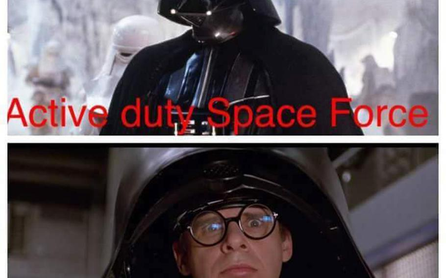 Reserve vs. active-duty Space Force meme