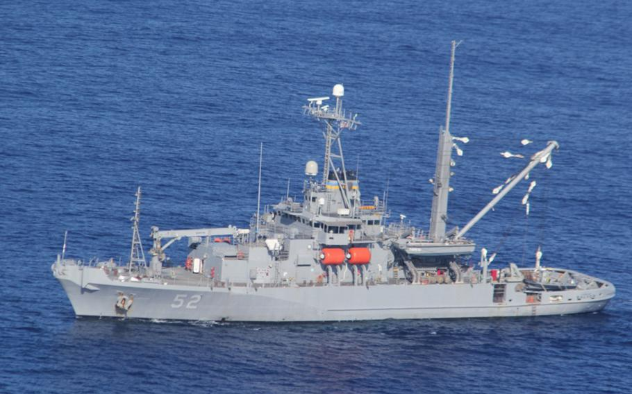 The diving and salvage ship USNS Salvor, shown here in 2016, is  part of the Sama Sama exercise.