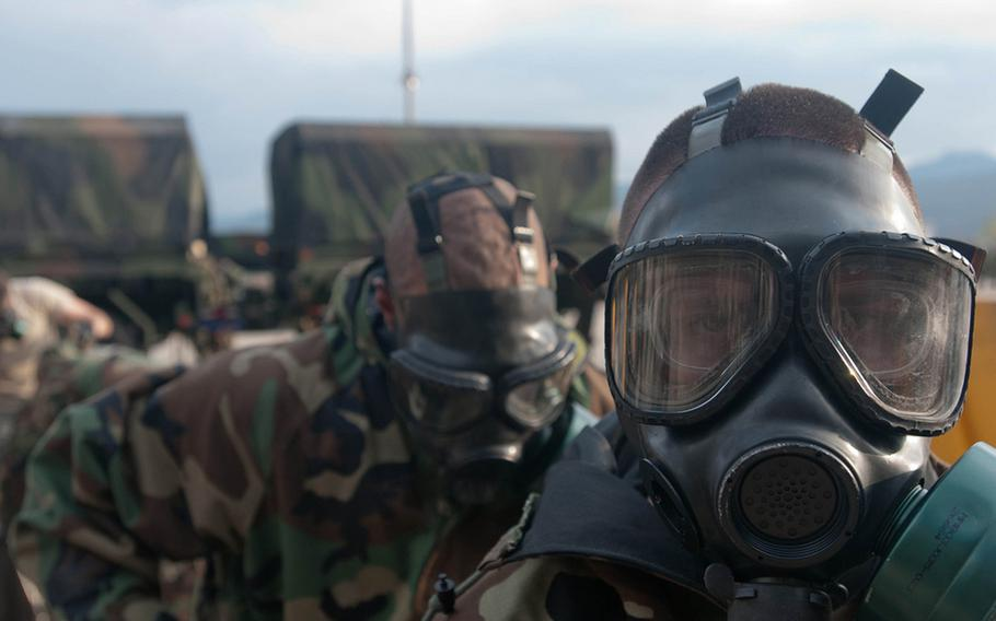 The 20th Chemical, Biological, Radiological, Nuclear, Explosives Command gears up for Exercise Ulchi Freedom Guardian in South Korea, 2011.