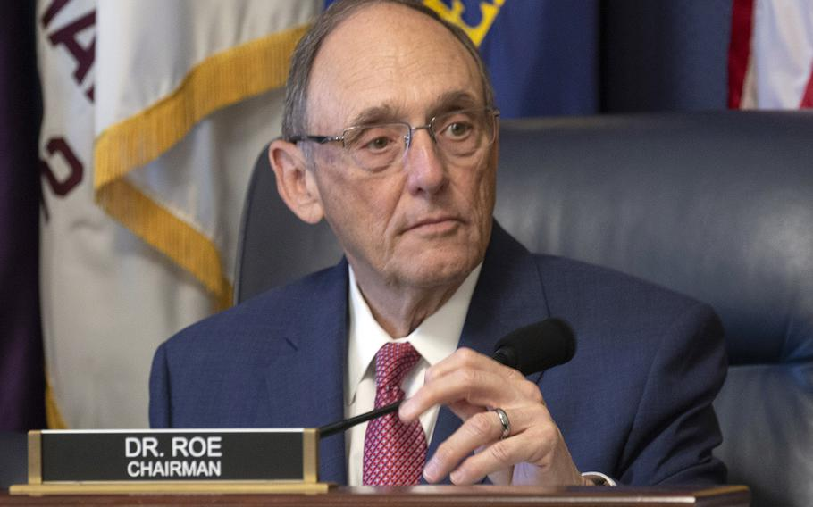 House Veterans' Affairs Committee Chairman Phil Roe, R-Tenn., listens during a hearing on July 12, 2018, on Capitol Hill.