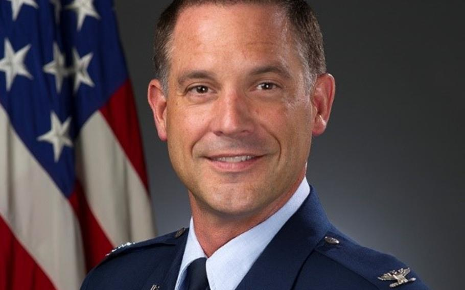 Col. Ethan Griffin was relieved of command of the 60th Air Mobility Wing at Travis Air Force Base on Aug. 6, 2018, according to the 18th Air Force.