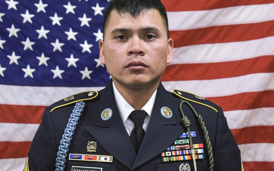 Staff Sgt. Diobanjo S. Sanagustin died in a noncombat incident at Bagram Air Field in Afghanistan on Tuesday, Sept. 4, 2018.