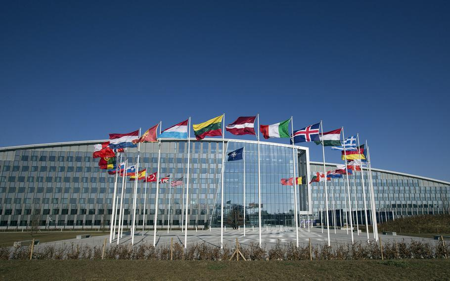 The NATO headquarters are shown in this undated photo.