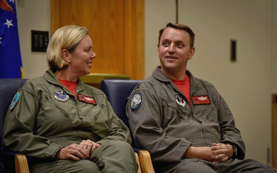 Lt. Cols. Jennifer and John Avery had a joint retirement ceremony Sept. 7, 2018, at Whiteman Air Force Base, Mo.