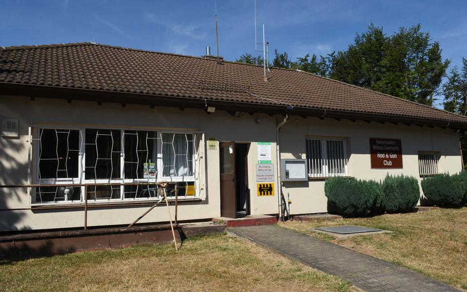 The main building of the Kaiserslautern Rod and Gun Club  in Kaiserslautern, Germany, dates back to the 1960s. It's the only free-standing military rod and gun club left in Europe.