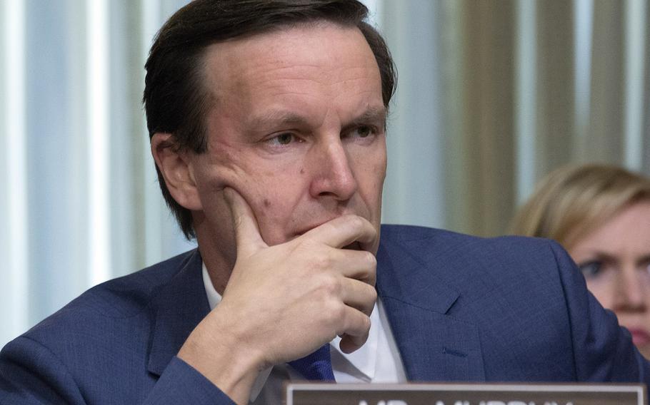 Sen. Chris Murphy, D-Conn., at a hearing in 2017.