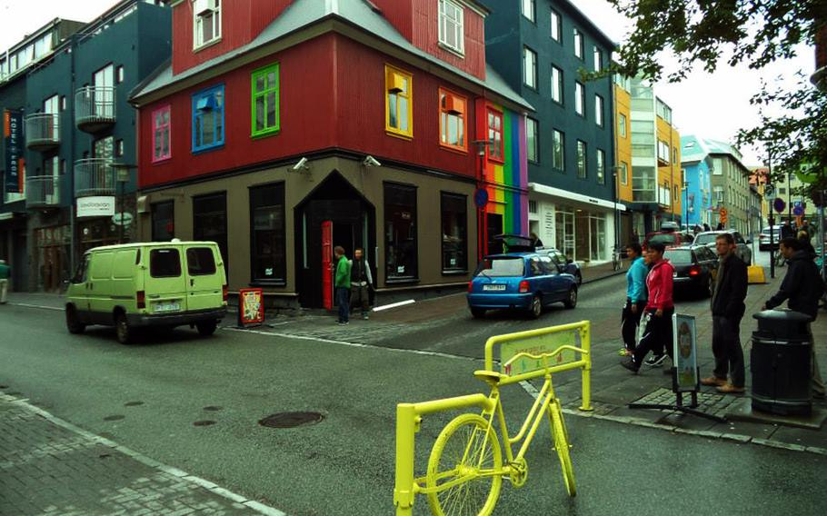 Laugavegur street is a popular area to visit in Reykjavik, Iceland.