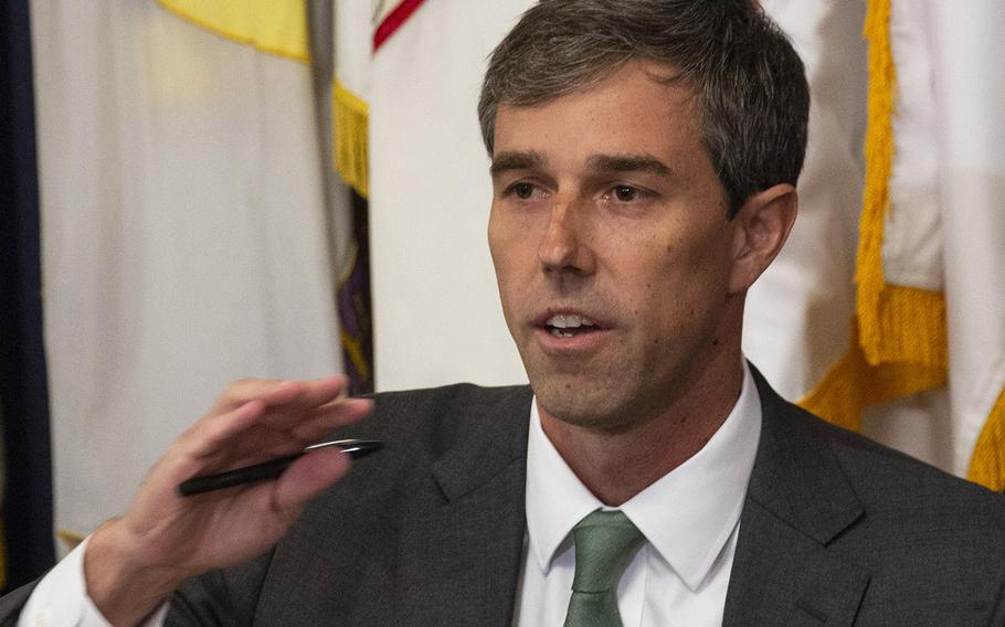 House Veterans' Affairs Economic Opportunity subcommittee Ranking Member Rep. Beto O'Rourke, D-Texas, makes his opening statement at a hearing on delays in GI Bill payments, Nov. 15, 2018 on Capitol Hill.
