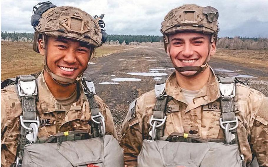 Sgt. Leandro A.S. Jasso, right, in this photo uploaded to Facebook, was killed in Afghanistan on Nov. 24, 2018.