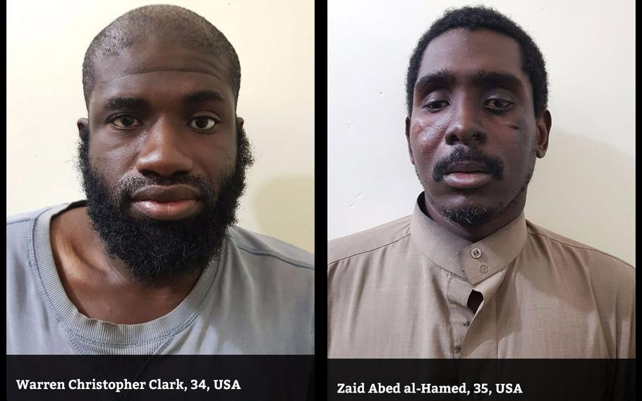 Two Americans fighting for the Islamic State in Syria have been captured by Kurdish forces. Warren Christopher Clark, 34, and Zaid Abed al-Hamed, 35, were among the roughly 300 Americans who left or tried to leave the U.S. to fight in Syria.