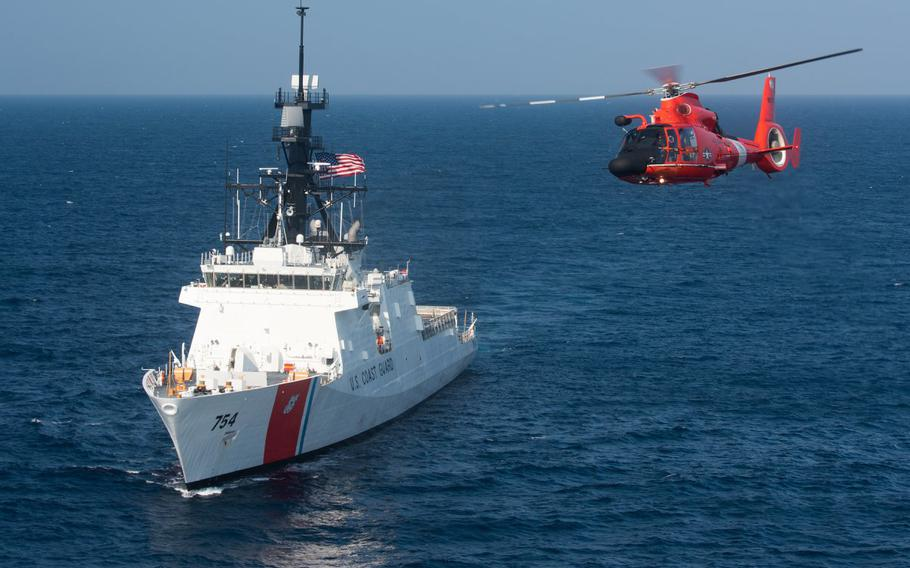 Roughly 41,000 Coast Guard members were bracing for the partial government shutdown to deny them paychecks on Tuesday, Jan. 15, 2019.