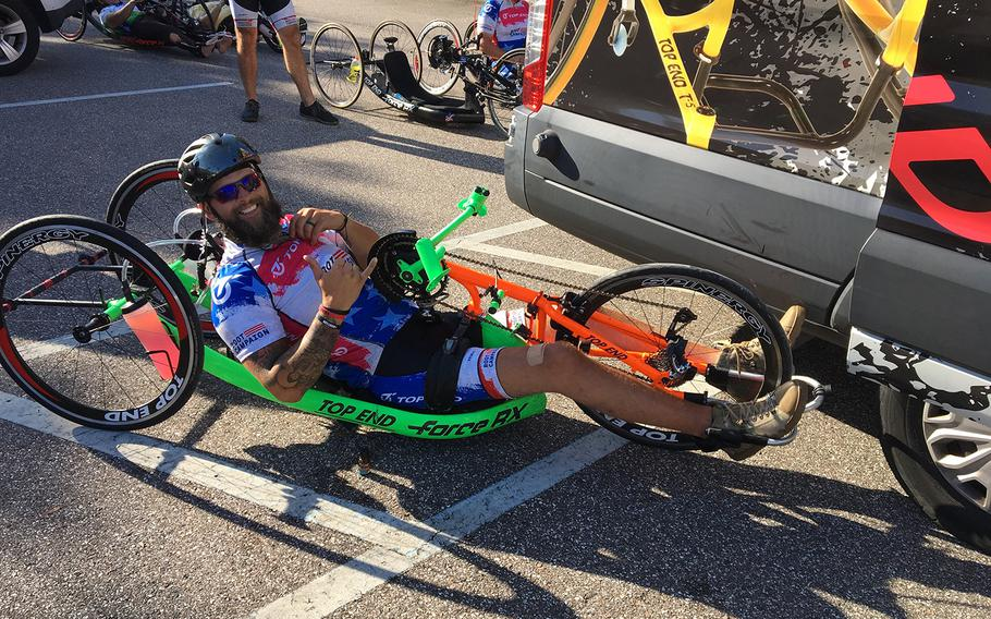 Ricky Raley is a paralyzed Army veteran who handcycles to raise awareness and money for a nonprofit organization that serves veterans.