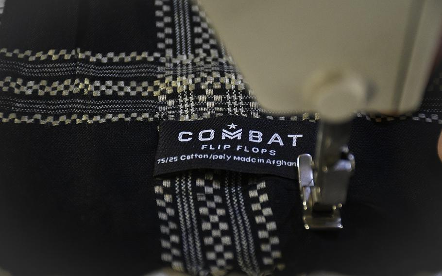 Workers at a factory in Kabul, sew shemaghs for Combat Flip Flops, a company started by a U.S. veteran and Ranger who deployed to Afghanistan and wanted to invest in the country. The company's co-founder, Matt Griffin, said he wanted to help build up Afghanistan through private enterprise.