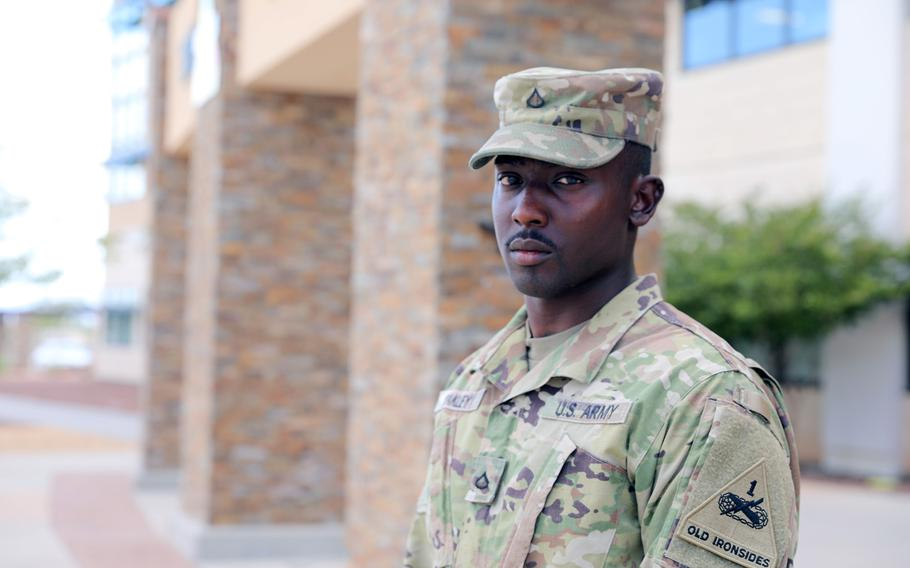 Army Pfc. Glendon Oakley.