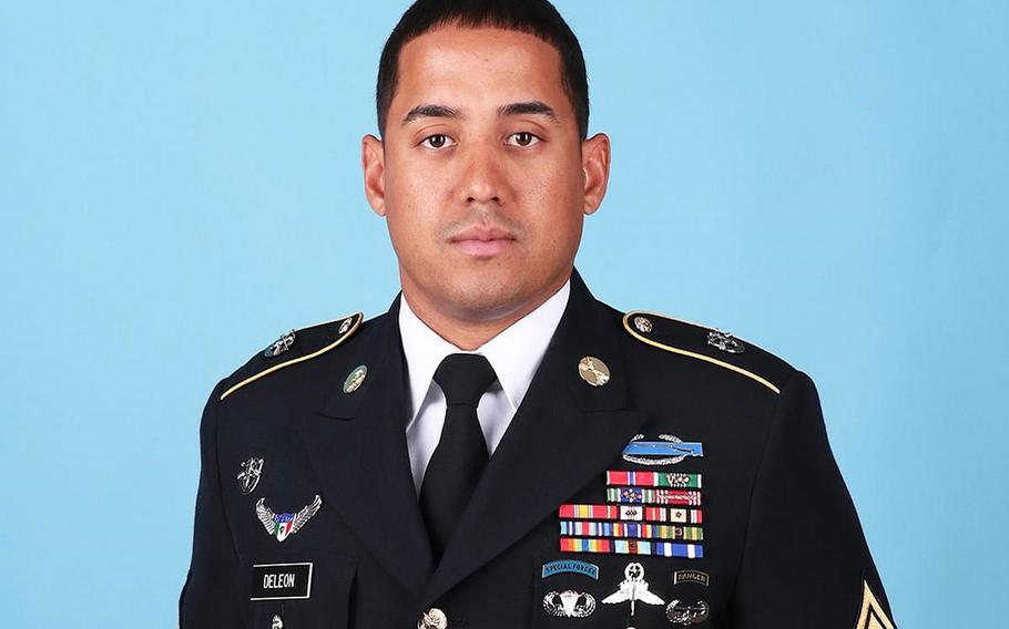The Army has identified Master Sgt. Luis F. Deleon-Figueroa as one of two soldiers killed Wednesday, during combat operations in Faryab Province, Afghanistan.