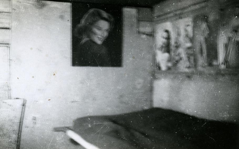 A picture of Ruth Reise at 16 hung in Ben Reise's bunk while he was serving overseas.