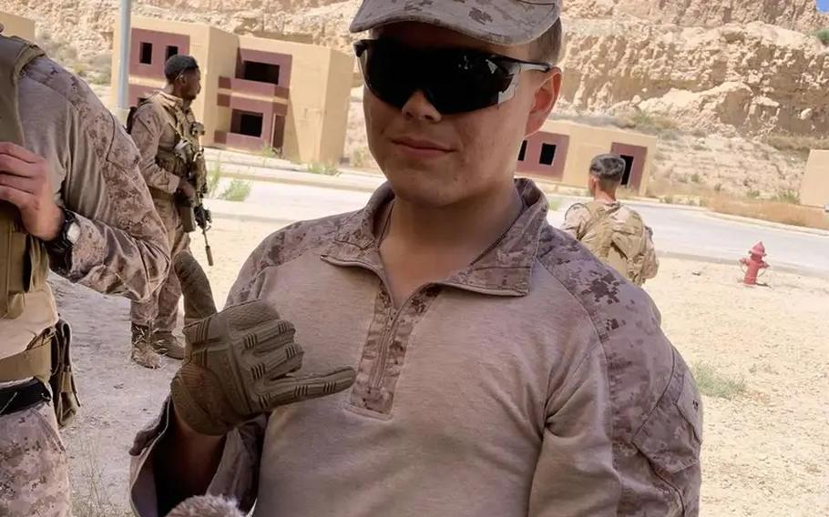 Lance Cpl. Jared Schmitz, 20, of Wentzville, Mo., shown here in an undated photo from social media, was identified as one of the victims of  Thursday's explosion at the Kabul airport.