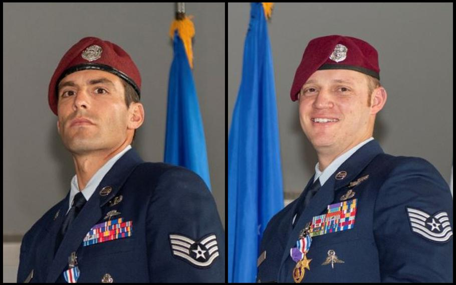 Staff Sgt. Daniel Swensen and Tech Sgt. Gavin Fisher were awarded Silver Stars.