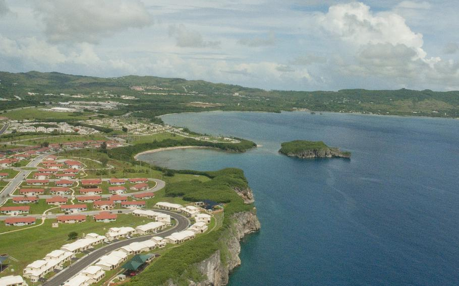 Parts of Naval Base Guam are seen from the air on Aug. 19, 2010.
