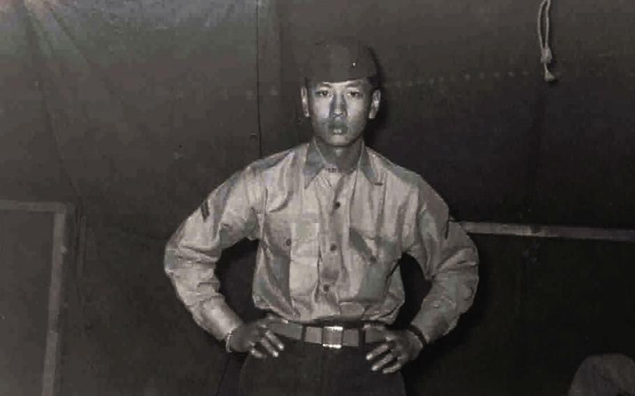 Franklin Chang, home on leave after Boot Camp.