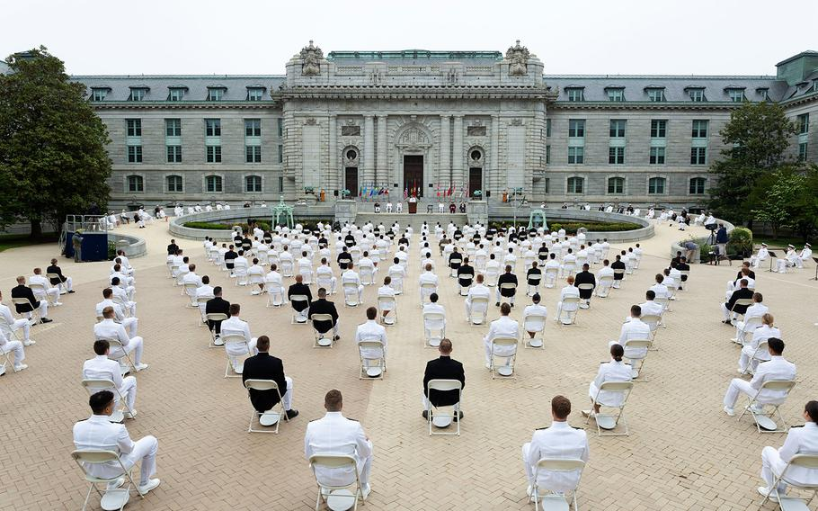 The United States Naval Academy holds the fourth swearing-in event for the Class of 2020.