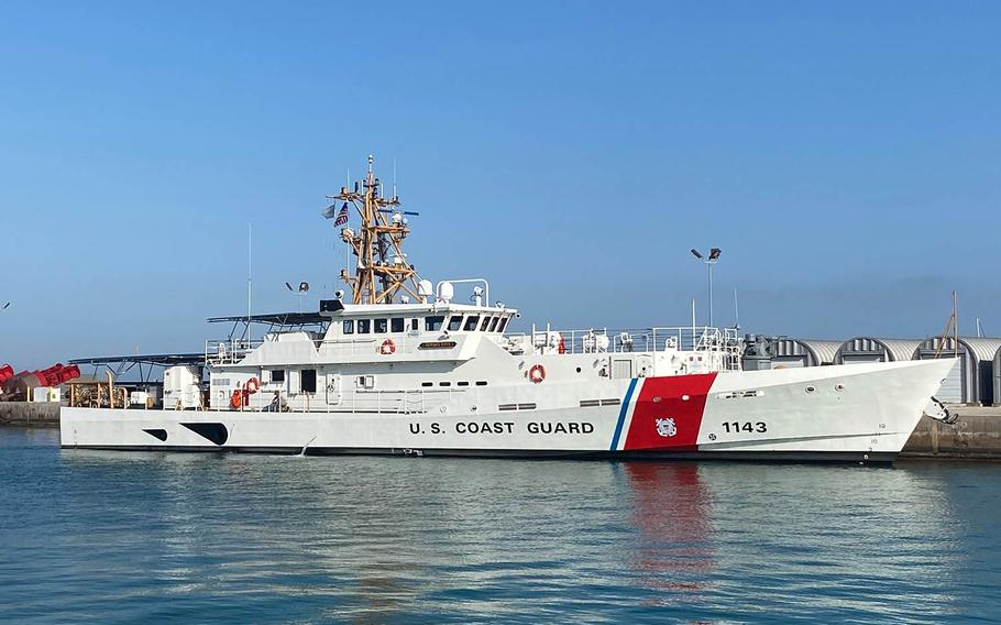 The cutter Frederick Hatch arrives at Coast Guard Sector Key West, Fla., Feb. 9, 2021.