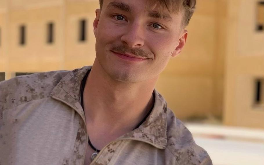 Cpl. Daegan William-Tyeler Page, 23, shown here in an undated photo released to local media, was a member of the 2nd Battalion, 1st Marine Regiment at Marine Corps Base Camp Pendleton.