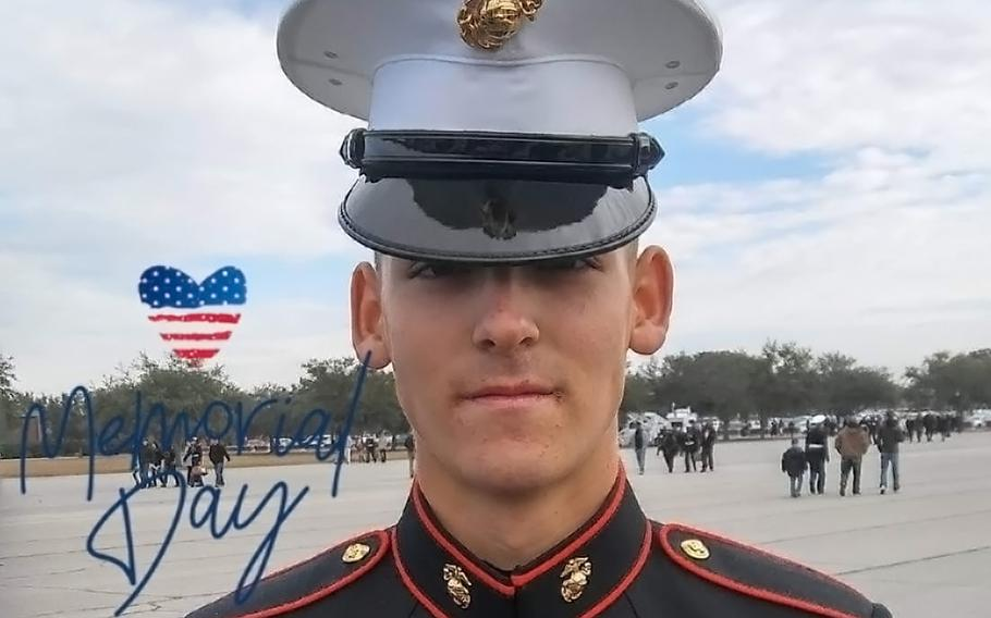 Cpl. Douglas A. Mott,shown here in an undated photo posted to social media, died June 8 from injuries he received after being hit by a vehicle nine days earlier.