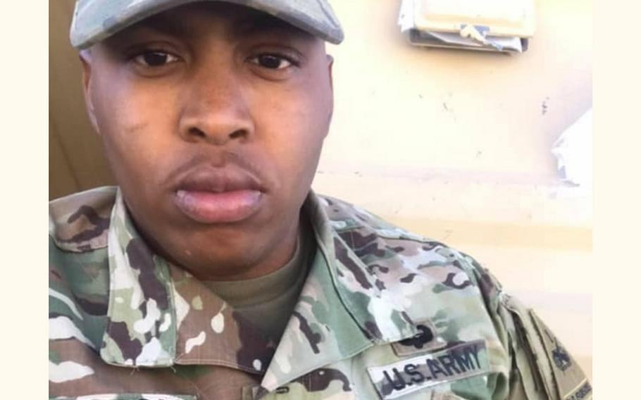 Sgt. Tavarius Hampton, who was stationed at Fort Campbell, was shot and killed during an incident in Birmingham, Ala. on May 17, 2021.