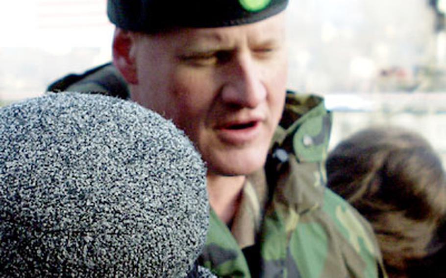 Army Maj. David Grosso commands the Georgia Train and Equip Program.