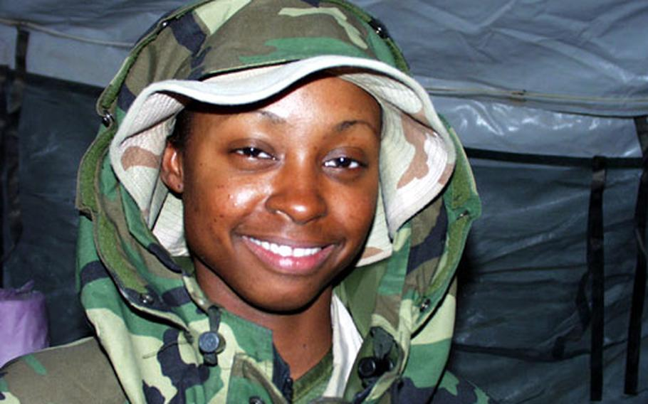 As the clock ticked toward midnight on New Year's Eve, Spc. Tiffany Turner was still working to help install a massive fuel delivery system at Camp Virginia.